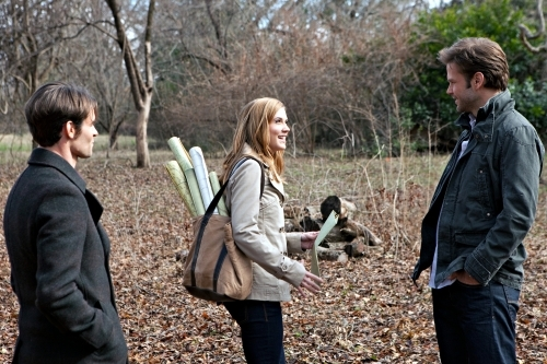 Matthew Davis, Daniel Gillies, and Sara Canning in The Vampire Diaries (2009)