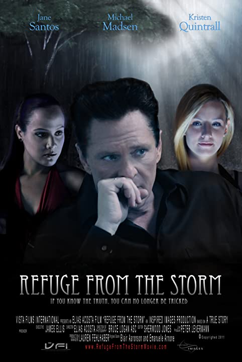 Michael Madsen, Jane Santos, and Kristen Quintrall in Refuge from the Storm (2012)