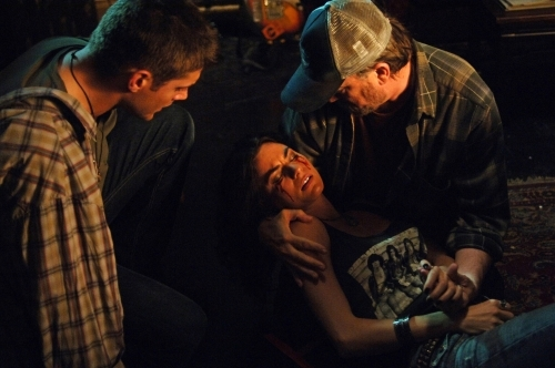 Jensen Ackles, Jim Beaver, and Traci Dinwiddie in Supernatural (2005)