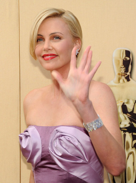Charlize Theron at an event for The 82nd Annual Academy Awards (2010)