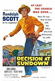 Decision at Sundown Poster