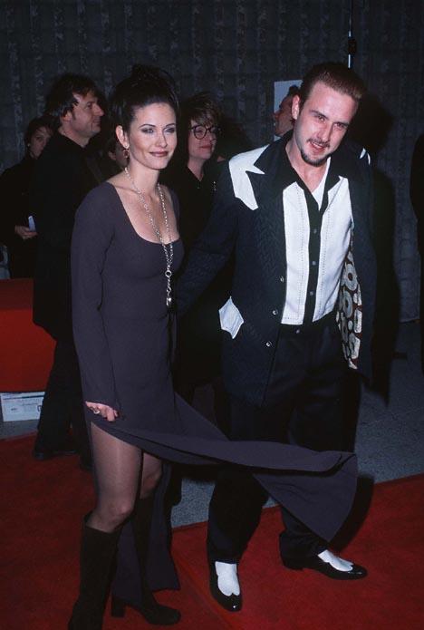 David Arquette and Courteney Cox at Scream (1996)