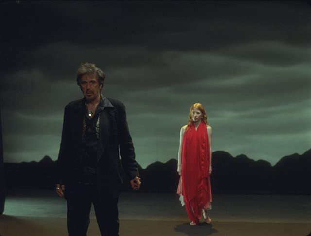 Al Pacino as King Herod and Jessica Chastain as Salome in Wilde Salome.