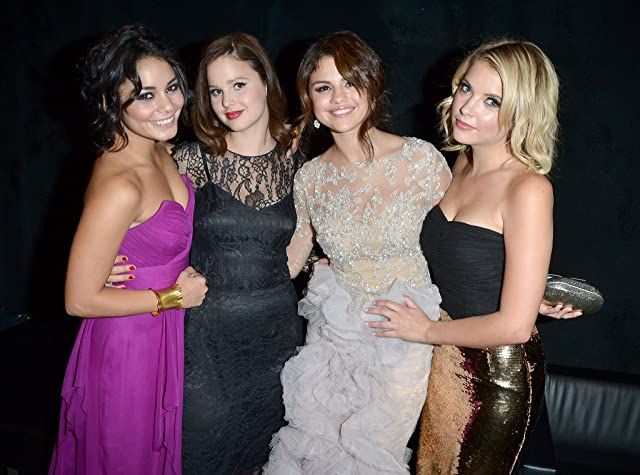 Vanessa Hudgens, Selena Gomez, Ashley Benson, and Rachel Korine at Spring Breakers (2012)