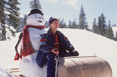 Jack & Charlie go sledding
