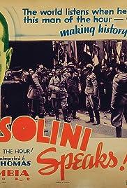 Mussolini Speaks Poster