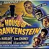 Boris Karloff, John Carradine, Lon Chaney Jr., and Glenn Strange in House of Frankenstein (1944)