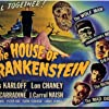 Boris Karloff, John Carradine, Lon Chaney Jr., Lionel Atwill, Glenn Strange, Elena Verdugo, and George Zucco in House of Frankenstein (1944)
