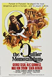 The Quiller Memorandum(1966) Poster - Movie Forum, Cast, Reviews