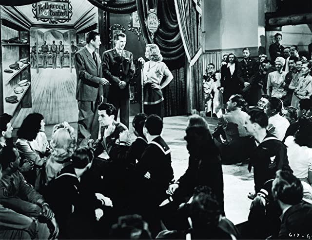 Bette Davis, Jack Carson, and Robert Hutton in Hollywood Canteen (1944)