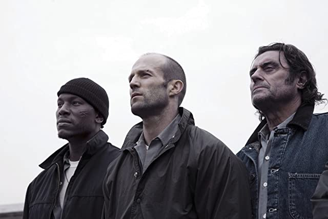 Jason Statham, Ian McShane, and Tyrese Gibson in Death Race (2008)