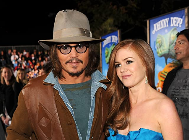 Johnny Depp and Isla Fisher at an event for Rango (2011)