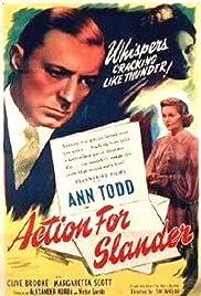 Action for Slander Poster