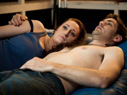 Lauren Socha and Matthew McNulty in Misfits (2009)