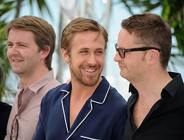 Ryan Gosling, Nicolas Winding Refn, and Matthew Newman at an event for Drive (2011)
