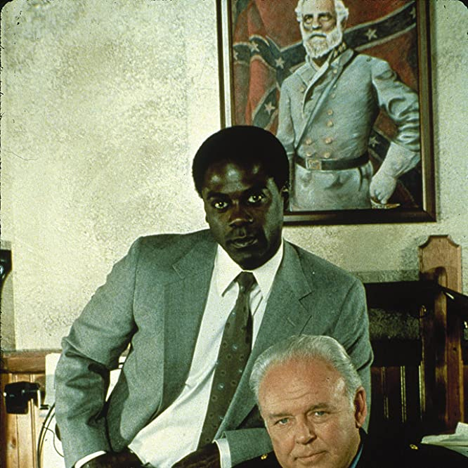 Carroll O'Connor and Howard E. Rollins Jr. in In the Heat of the Night (1988)