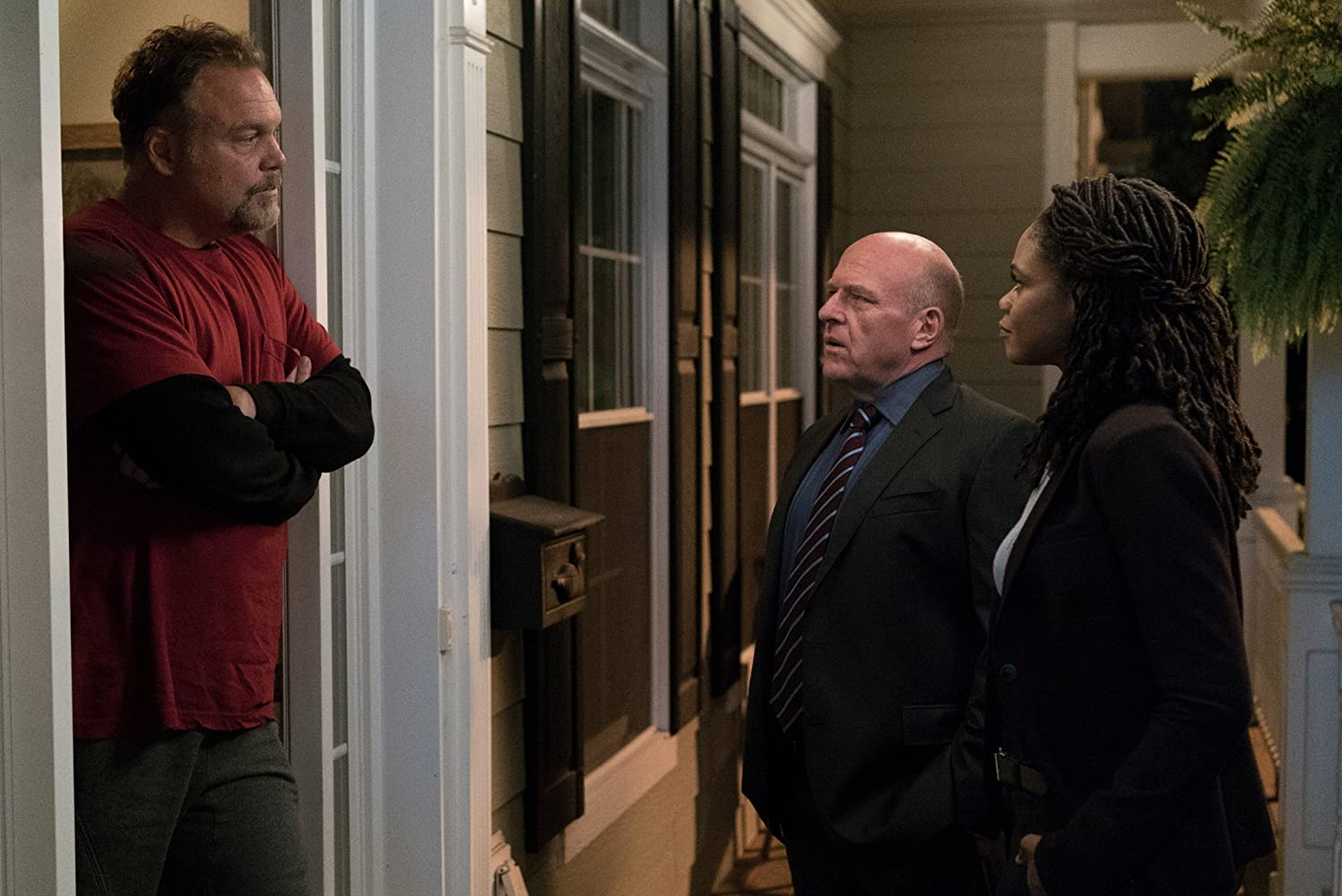 Vincent D'Onofrio, Kimberly Elise, and Dean Norris in Death Wish (2018)