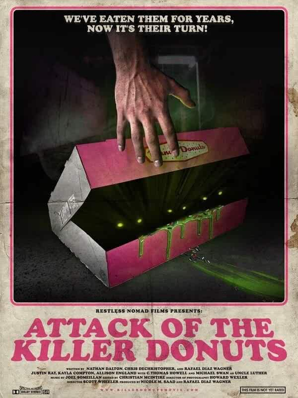 Poster Attack Of The Killer Donuts 2016 Full Movie Download in Hindi Dubbed