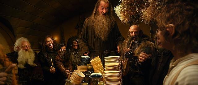 Ian McKellen, Martin Freeman, Mark Hadlow, Graham McTavish, and Ken Stott in The Hobbit: An Unexpected Journey (2012)