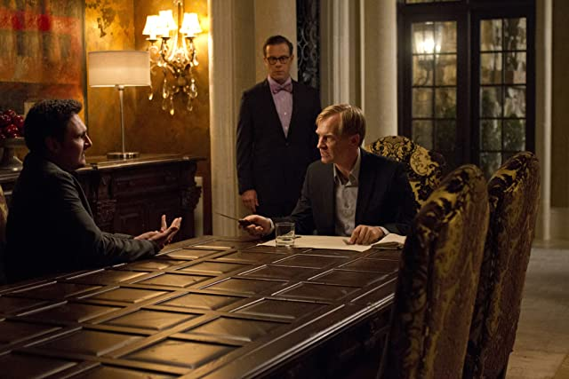Ulrich Thomsen and Toby Leonard Moore in Banshee (2013)