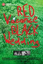 Red Vacance Black Wedding Poster