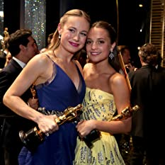 Brie Larson and Alicia Vikander at The 88th Annual Academy Awards (2016)