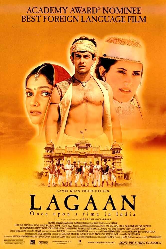 Poster Lagaan (2001) Full HD Movie Download Hindi 720p Blu-ray