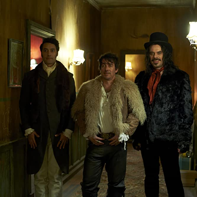 Taika Waititi, Jemaine Clement, and Jonny Brugh in What We Do in the Shadows (2014)