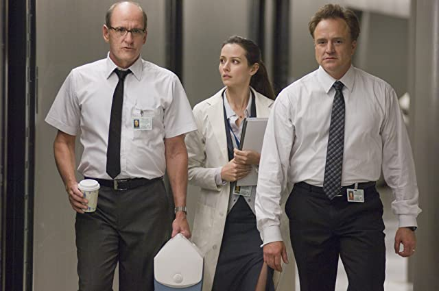 Amy Acker, Richard Jenkins, and Bradley Whitford in The Cabin in the Woods (2012)