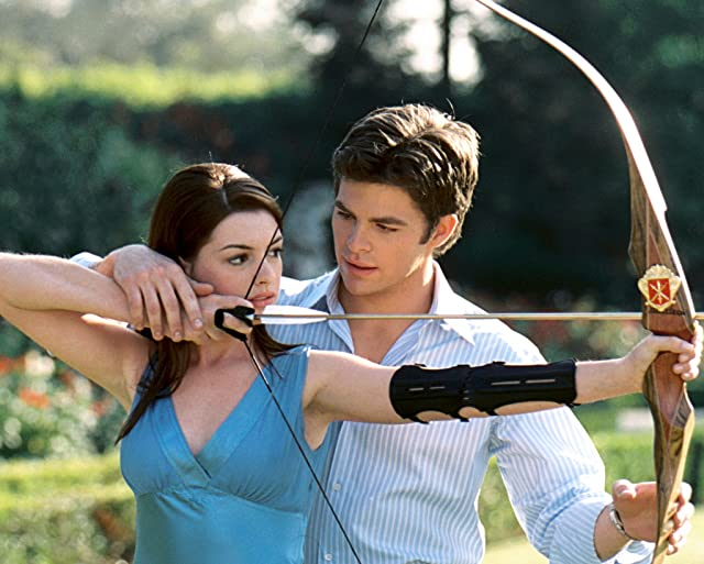 Anne Hathaway and Chris Pine in The Princess Diaries 2: Royal Engagement (2004)