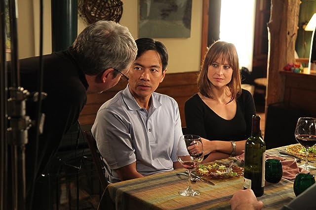 Director John Daschbach working with Joel de la Fuente and Alexie Gilmore.