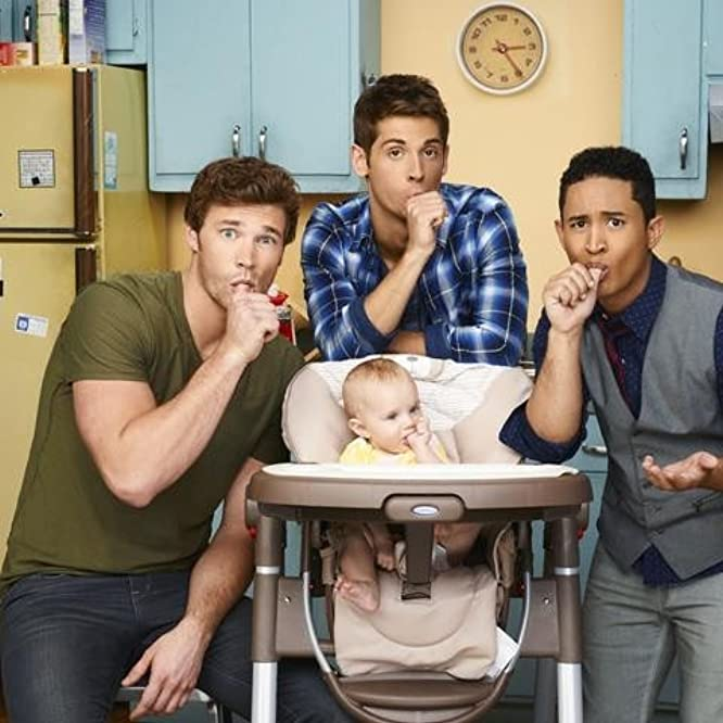 Tahj Mowry, Jean-Luc Bilodeau, and Derek Theler in Baby Daddy (2012)