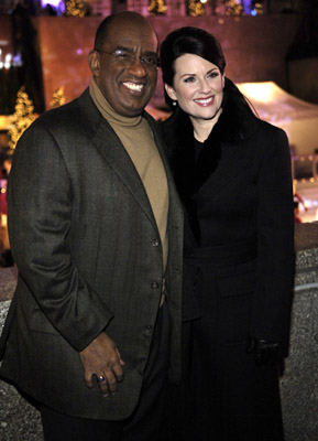 Megan Mullally and Al Roker