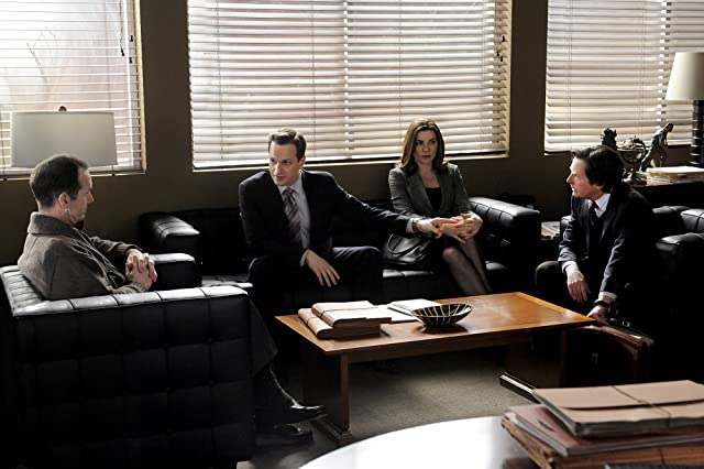 Michael J. Fox, Julianna Margulies, and Josh Charles in The Good Wife (2009)