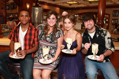 Olesya Rulin, Ryne Sanborn, Chris Warren, and KayCee Stroh at an event for High School Musical 3: Senior Year (2008)