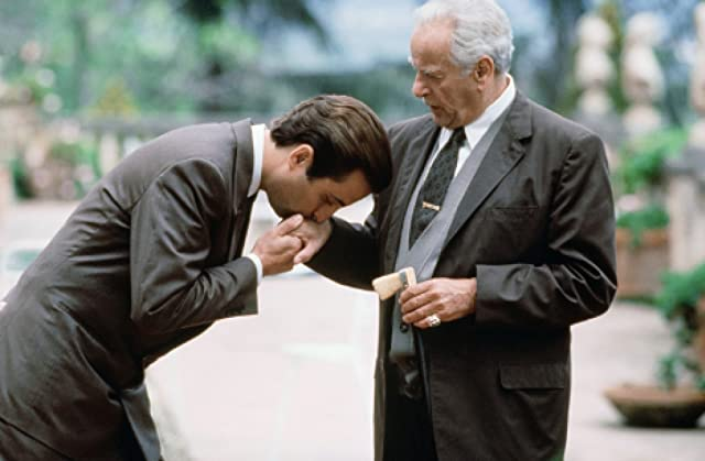 Andy Garcia and Eli Wallach in The Godfather: Part III (1990)