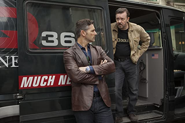 Eric Bana and Ricky Gervais in Special Correspondents (2016)