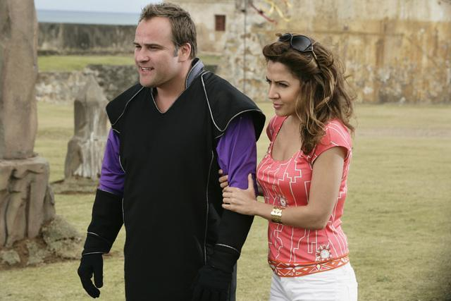 Maria Canals-Barrera and David DeLuise in Wizards of Waverly Place: The Movie (2009)