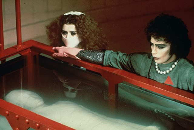 Tim Curry and Patricia Quinn in The Rocky Horror Picture Show (1975)