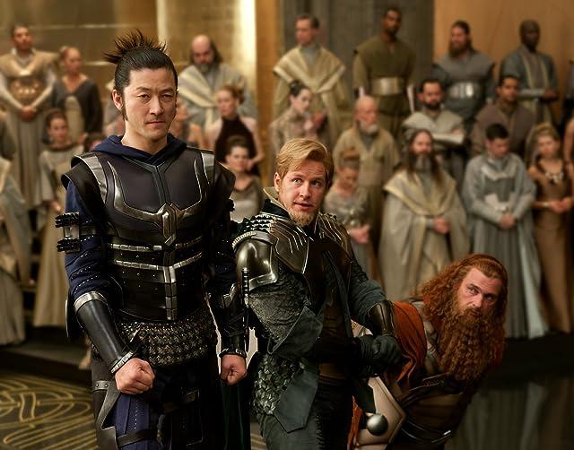 Tadanobu Asano, Ray Stevenson, and Josh Dallas in Thor (2011)