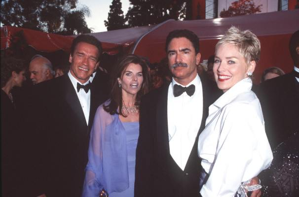 Arnold Schwarzenegger and Sharon Stone at an event for The 70th Annual Academy Awards (1998)