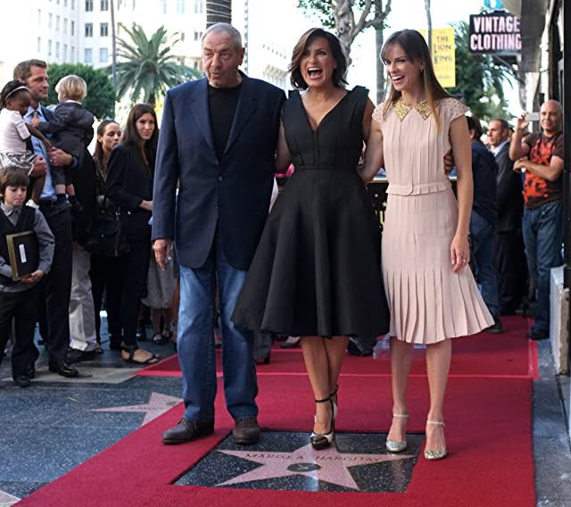 Mariska Hargitay, Hilary Swank, and Dick Wolf