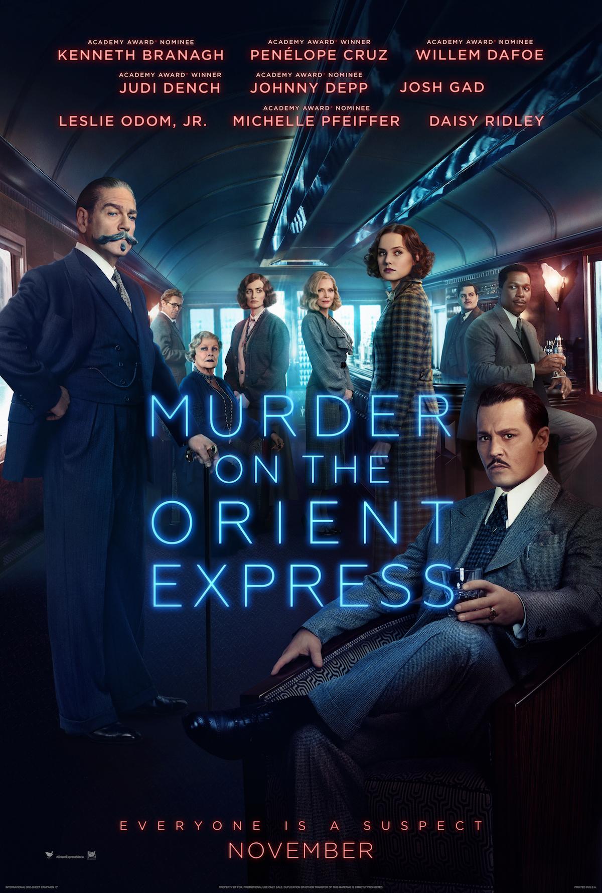 Resultado de imagem para Murder on the Orient Express 2017 poster