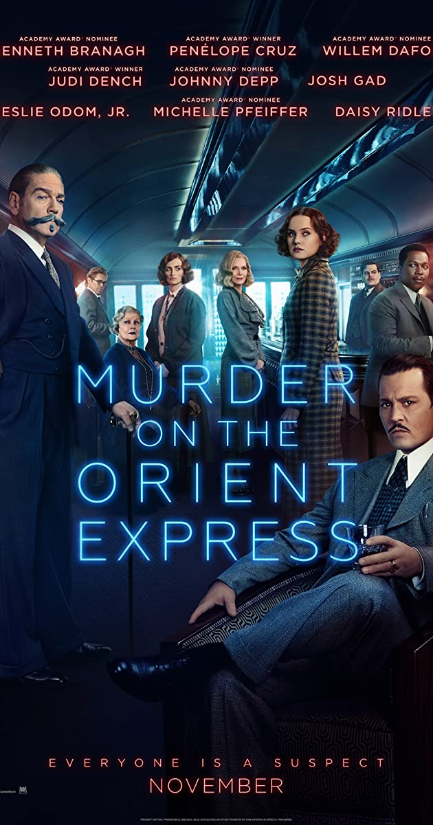 Murder on the Orient Express , Amy Robsart Hall, Syderstone, Norfolk, PE31 8SD | A new version of the classic Agatha Christie novel, directed and starring Kenneth Branagh. | cinema