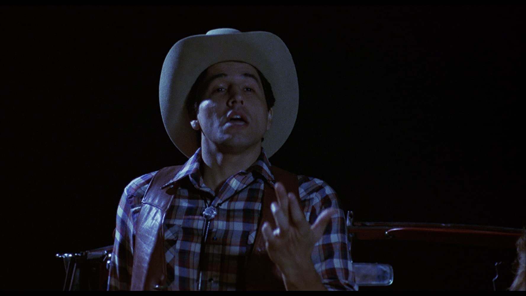 Robert Beltran as a cowboy