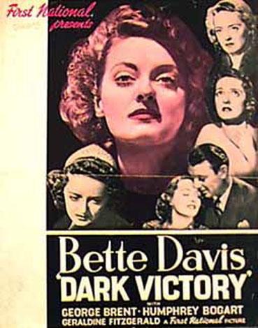 Image result for dark victory 1939 POSTER