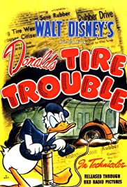 Donald's Tire Trouble Poster