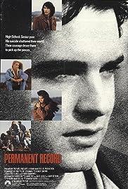 Permanent Record(1988) Poster - Movie Forum, Cast, Reviews