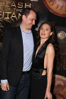 Louis Leterrier and Alexa Davalos at an event for Clash of the Titans (2010)