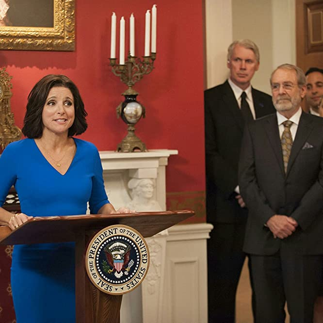 Julia Louis-Dreyfus, Martin Mull, and Matt Gulbranson in Veep (2012)